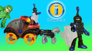imaginext battle coach and knight teams up with green arrow and