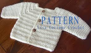Easy Crochet Baby Sweater Pattern Free Crochet And Knit