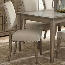 nailhead trim dining chairs rustic casual upholstered side chair with nail head trim by