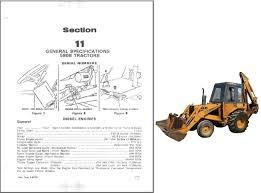 case 580b construction king backhoe loader tractor service repair