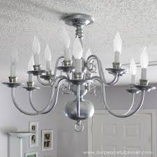 Chandelier Makeover Ceiling Fan To Thrift Store Chandelier Makeover