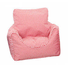 bean bag chair filled red gingham childrens bedding