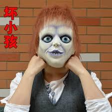 chucky mask a tricky scary horror wacky mask chucky mask bad child