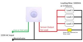 how to wire a motion sensor to multiple lights motion sensor switch wiring diagram wiring diagram