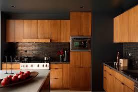 Midcentury Modern Kitchens - modern elegance in the kitchen black painted walls paint walls