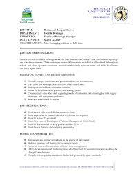 Hostess Job Description For Resume Customer Service Duties Resume Resume Template And Professional