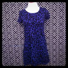 Blue Leopard Print 72 Off Divided Dresses U0026 Skirts H U0026m Blue Leopard Print Dress