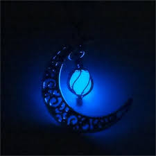 premium crescent moon glow in the necklace wanderland designs