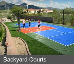 Backyard Basketball Court Backyard Basketball Court Builders Of Arizona
