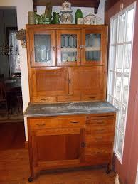 vintage hoosier kitchen cabinet furniture brown wooden hoosier cabinet with white countertop for
