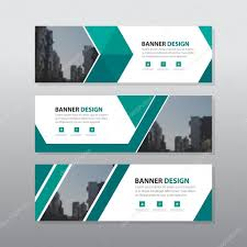 layout banner template green triangle abstract corporate business banner template