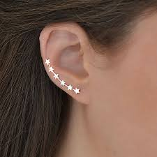 sterling silver star ear climbers by martha jackson sterling