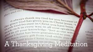 a thanksgiving meditation broadcasts for