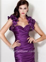 princess mermaid sweetheart long purple silk evening dress with