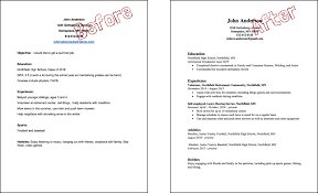 volunteer examples for resumes resumes cover letters more northfield youth future example 2 before and after editing