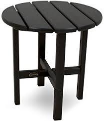Black Side Table Amazon Com Polywood Clt1836bl Club Coffee Table Black Patio