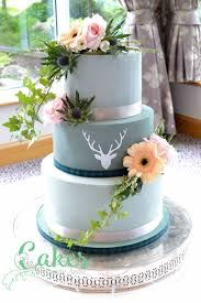 grey stag silhouette wedding cake u2013 cakes by carrie anne