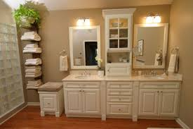 Master Bathroom Cabinet Ideas Bathroom Bathroom Vanities With Linen Cabinet Nice On Throughout