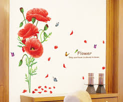 Online Buy Wholesale Red Poppy Wallpaper From China Red Poppy - Poppy wallpaper home interior