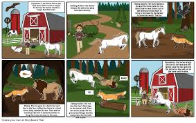 the fox and the horse storyboard by norapotatopants