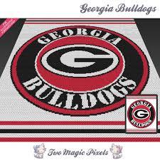 Georgia Bulldog Rugs Georgia Bulldogs C2c Graph Crochet Pattern Instant Pdf Download