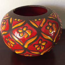 Vase Vintage Vintage Italian Art Pottery Vase Made In Italy Marked Red U0026 Yellow