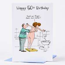 50th birthday card humorous only 59p