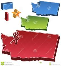 State Of Washington Map by Washington State Map Royalty Free Stock Photography Image 15520577