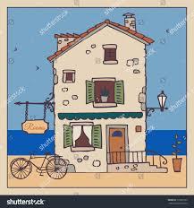 European House Old European House Handdrawn Sketch Vector Stock Vector 179522765