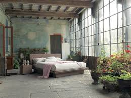 bedrooms rustic bedroom design with a distressed wall fimar