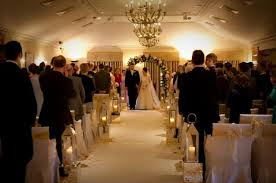 White Aisle Runner Pennyhill Park Hotel U2013 Ceremony With White Aisle Runner Mirrored