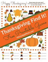 thanksgiving find it free printable mississippimom