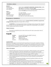 Sap Abap Resume Format Sample Resume For Food Counter Attendant Cheap Admission Paper