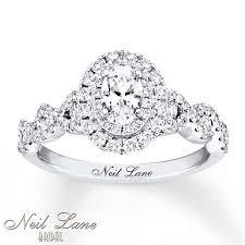 glamorous neil lane rings at kays jewelers kay neil lane bridal diamond ring 1 1 6 cts tw 14k white gold