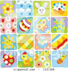 themed tiles clipart of easter and themed tiles royalty free vector
