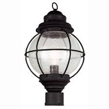 bel air lighting lighthouse 1 light outdoor black post top lantern