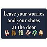 Funny Doormat Sayings Amazon Com Non Slip Entryways Funny Saying Quotes Doormat You