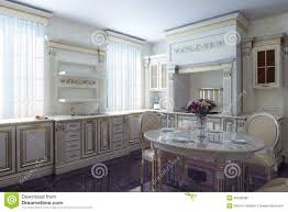 provence kitchen design classic kitchen cabinet in provence vintage style stock image