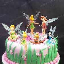 tinkerbell cake princess cake topper 6pcs set 3 inch tinkerbell dolls flying fairy