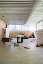 painting an interior brick room bigger than the three of us