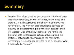 postmodern themes in film postmodernism in film blade runner