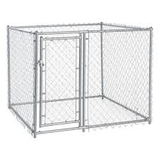 cl l home depot lucky dog 4 ft h x 5 ft w x 5 ft l galvanized chain link with pc
