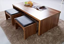 table with stools underneath coffee table with chairs underneath 55