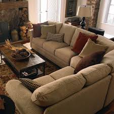 Upholstery Burlap Charming Small Curved Living Room Sectionals On Soft Burlap