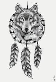 Wolf Indian Tattoos - indian wolf catcher design photos pictures and