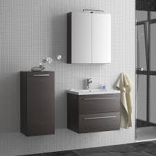 seville wall hung vanity unit u0026 basin grey oak 600