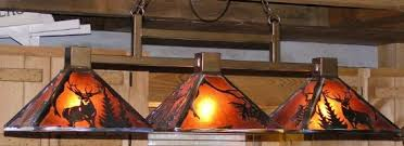 rustic pool table lights rustic lighting country mountain lodge mica designs