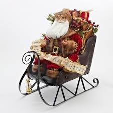 creative decoration sleigh 20 santa claus on metal gift
