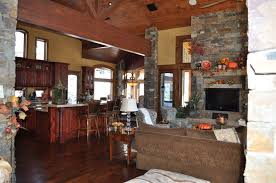 architecture cute open floor plans interior decors for country cute open floor plans interior decors for country style homes ideas added stones wall panels also open wooden kitchen cabinets and vintage interior