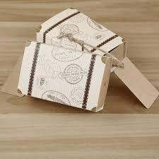 bonbonni re mariage henghome 50 pcs mini valise kraft boîte de bonbons bonbonnière de